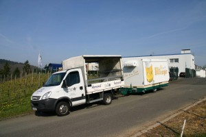 Picking up a mobile beer Stand GA 4000-8 EK Shirin by a beverage company from Landstuhl