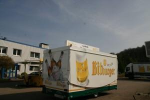 Repainting GA 4000-8 EA Werhan beverage house from Bitburg