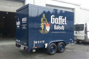 Tandem refrigerated trailer for the beverage shop Bresgen of Bad Münstereifel