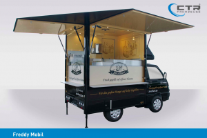 Outside catering based on Piaggio Porter